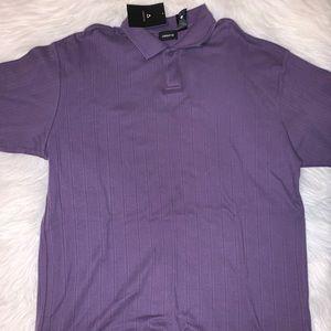 Claiborne brand new men XL purple polo shirt D